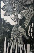 sans titre, bois gravé, 2013, 28 x 19 cm