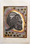 sans titre, bois gravé, 2015, 28 x 17 cm